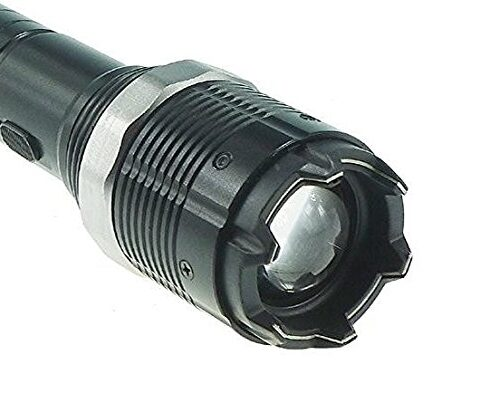 Police Adjustable Focus LED Metal Flashlight Rechargeable