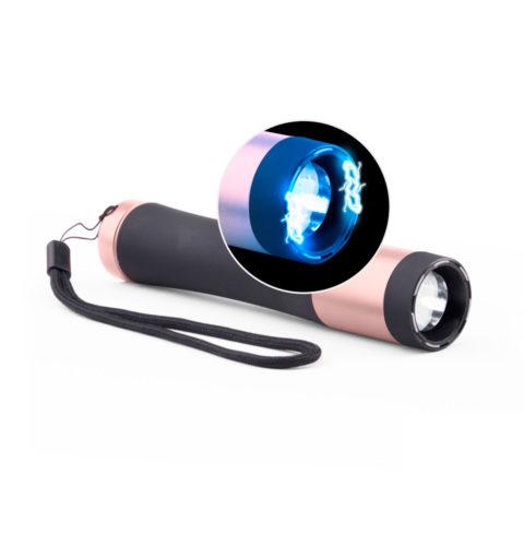 Stun Gun Flashlight Pink - 200 Lm