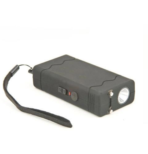 Mini Pocket Taser Stun Gun Rechargeable Disable Pin (Black)